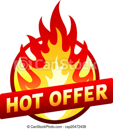 Hot offer red price sticker badge with flame - csp20472438