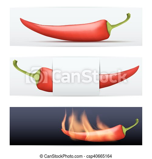 Red hot pepper pattern food banners template. vector illustration ...