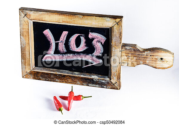 Hot Peppers With Sign - csp50492084