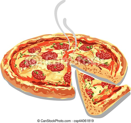 hot pizza salami - csp44061819