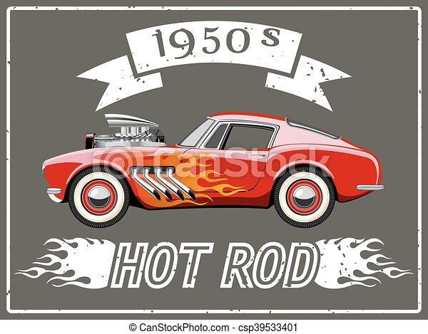 Hot rod car - csp39533401