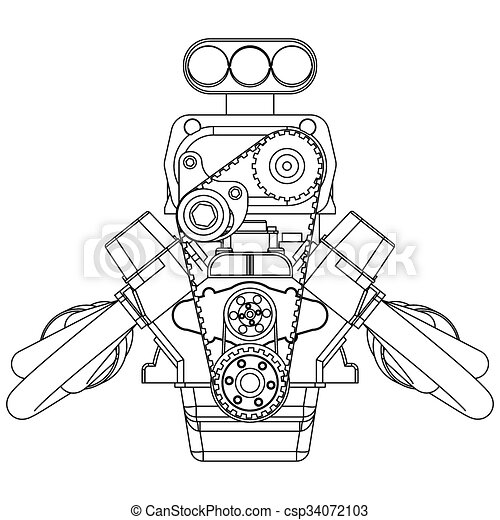 hot rod wiring diagram download schematic drawing of hot rod engine. vector illustration. hot rod engine diagram