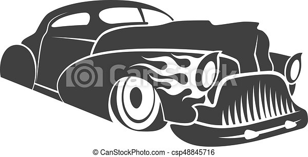 Hot rod low rider coupe vector illustration - csp48845716