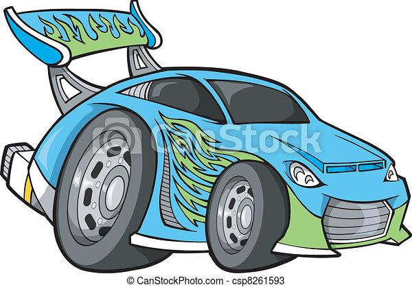 Hot-Rod Race-Car Vector art - csp8261593