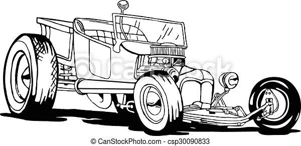 Hot Rod T-Bucket - csp30090833