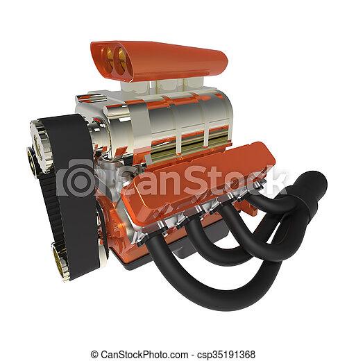 Hot rod V8 Engine - csp35191368