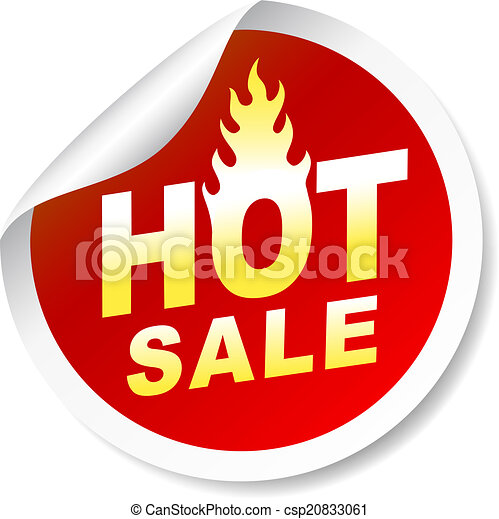 Hot sale sticker badge with flame - csp20833061
