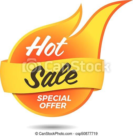 hot sale vector flaming label sticker banner symbol template rh canstockphoto com sale victoria australia sale victoria
