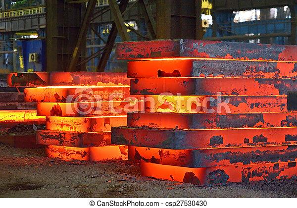 Industry Steel Hot Slab Stack