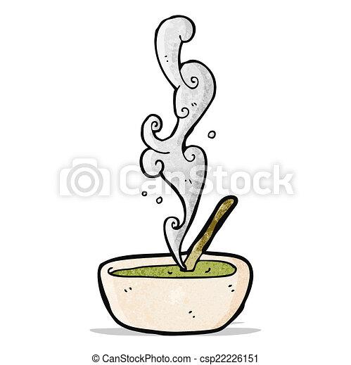 hot soup cartoon - csp22226151