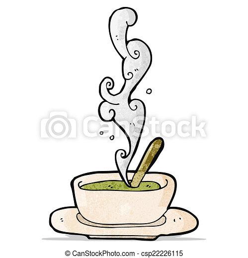 hot soup cartoon - csp22226115