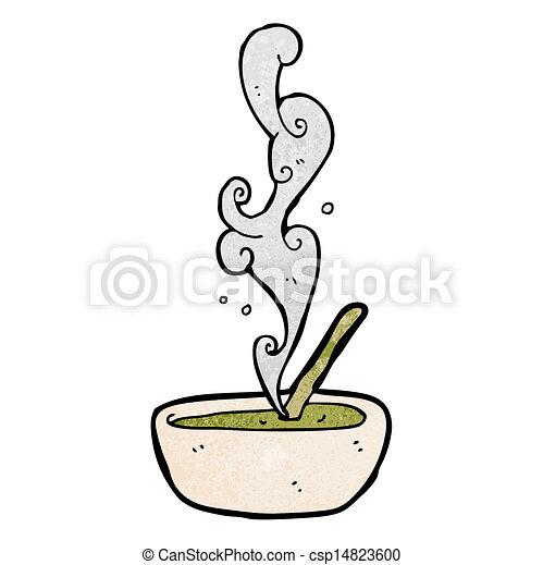 hot soup cartoon - csp14823600