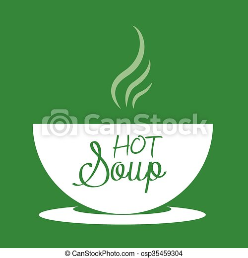 Hot soup in a bowl - csp35459304
