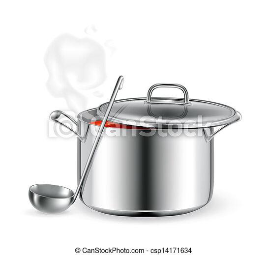 Hot soup, vector - csp14171634