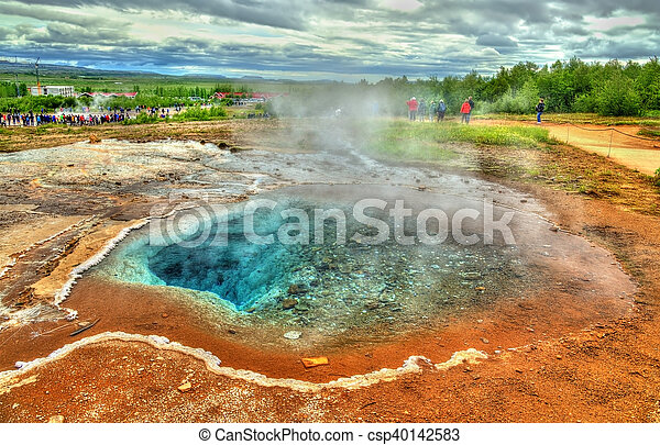 Hot springs in Haukadalur Valley - Iceland - csp40142583