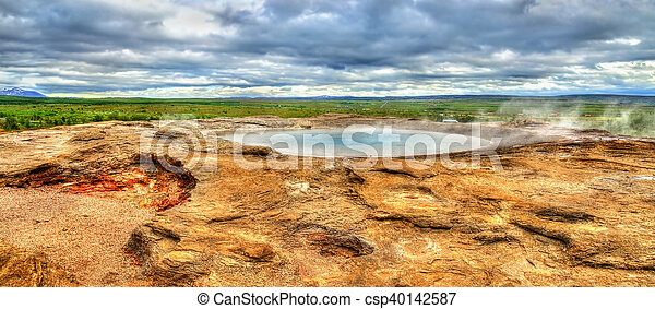 Hot springs in Haukadalur Valley - Iceland - csp40142587