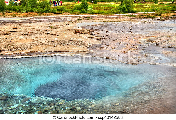 Hot springs in Haukadalur Valley - Iceland - csp40142588