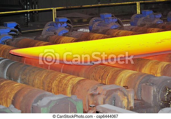 hot steel on conveyor - csp6444067