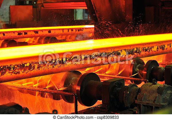 hot steel on conveyor - csp8309833