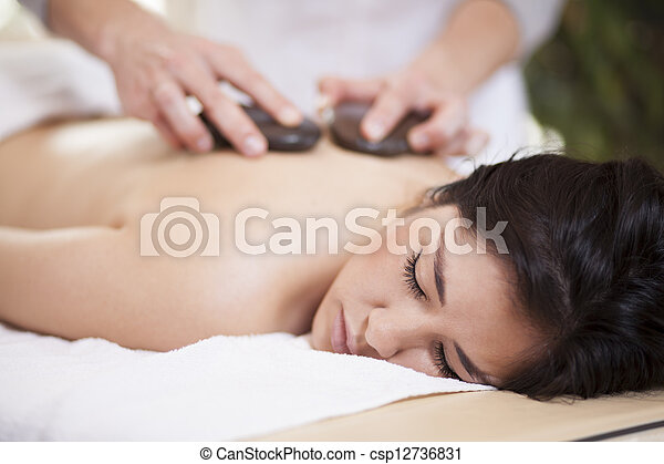 Hot stone massage at home - csp12736831
