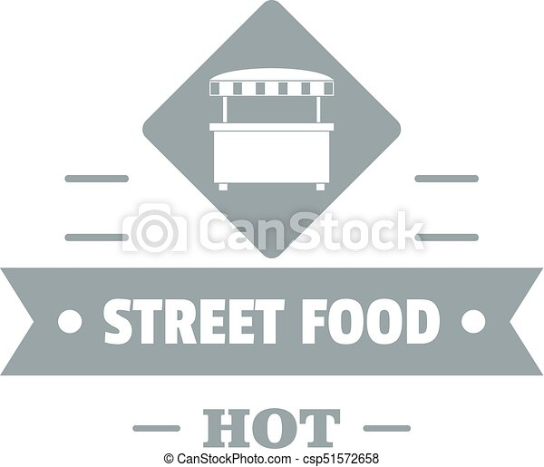 Hot Street Food Logo Simple Gray Style