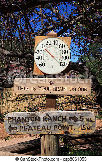 hot thermometer sign - csp8061053