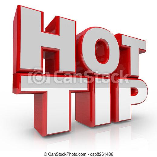 Hot Tip 3d Words Advice for Good Ideas - csp8261436