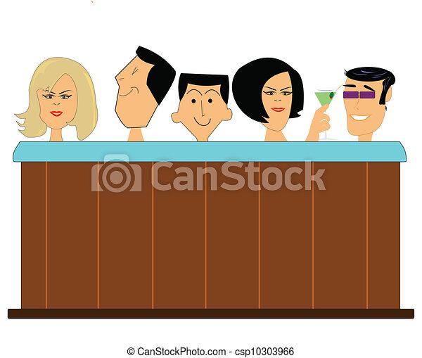 Hot tub full of people. Couples and a single male in hot tub in ...