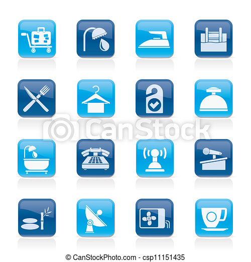 Hotel and motel icons - csp11151435