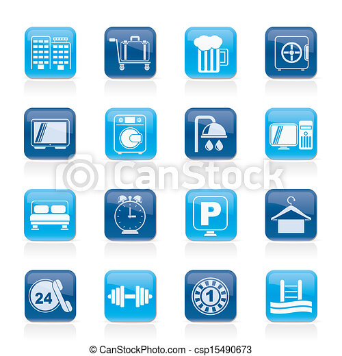 Hotel and motel icons - csp15490673