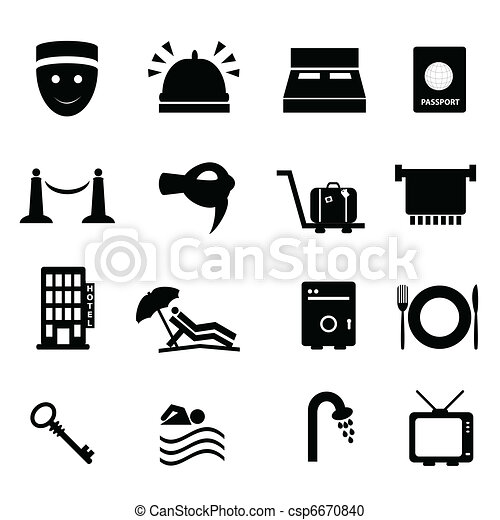 Hotel and travel icon set - csp6670840
