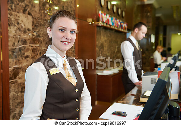 hotel, arbeiter, festempfang - csp19816997