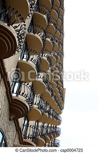 Hotel balconies 1 - csp0004723