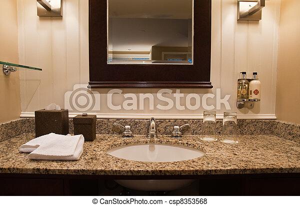 Hotel bathroom - csp8353568