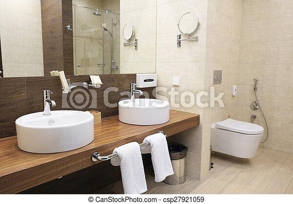 hotel bathroom - csp27921059