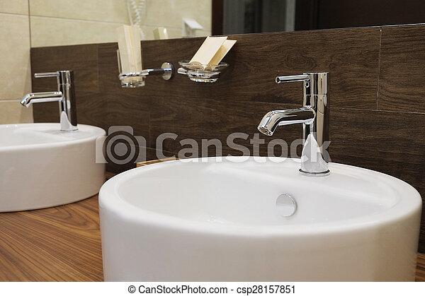 hotel bathroom - csp28157851