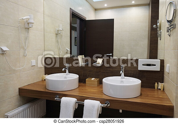 hotel bathroom - csp28051926