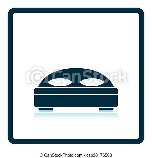 Hotel bed icon - csp38176503