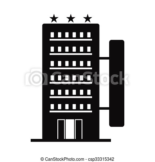 Hotel Building Black Simple Icon