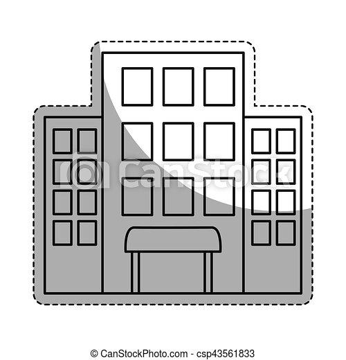 Hotel Building Icon Image