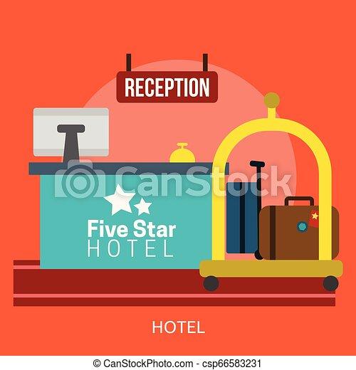 Hotel Conceptual illustration Design - csp66583231