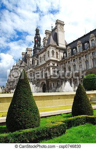 Hotel de Ville in Paris - csp0746830