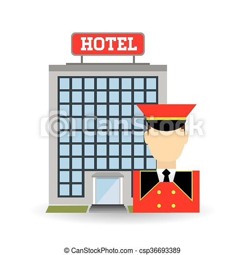 hotel design service icon travel concept hotel concept vector rh canstockphoto com clipart hotel free clipart hotel room