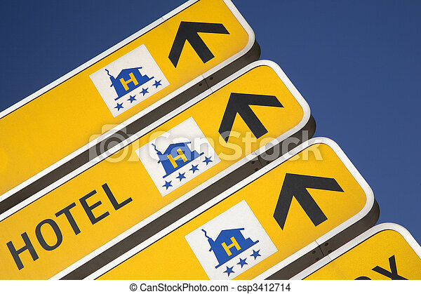 Hotel Direction Signs - csp3412714