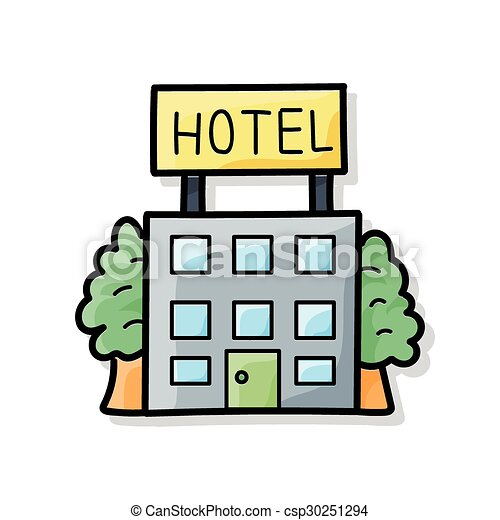 hotel doodle eps vectors search clip art illustration drawings rh canstockphoto com clip art motel 6 clipart hotel