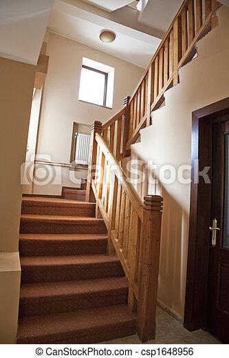 Las escaleras del hotel - csp1648956