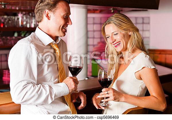 hotel, flörtölés, bár, businesspeople, kényelmes - csp5696469