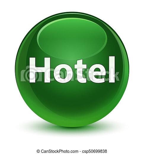 Hotel glassy soft green round button - csp50699838