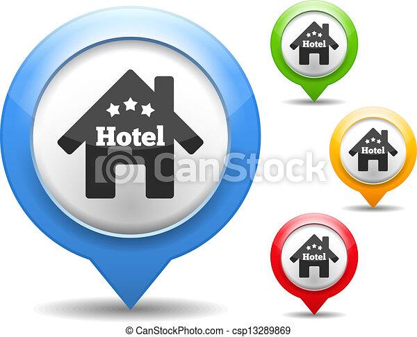 icono del hotel - csp13289869