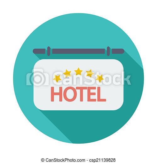 icono del hotel - csp21139828